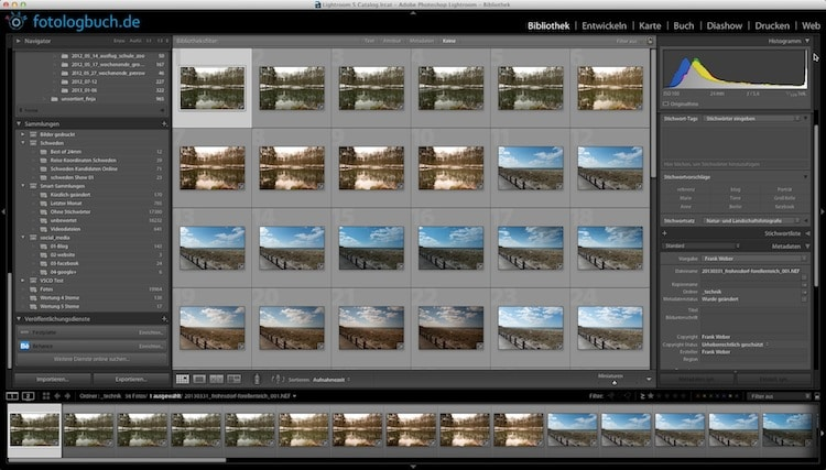 Lightroom Video Tutorial - Fotos Aussortieren und Umbenennen, (Foto copyright - Frank Weber - Berlin - fotologbuch.de)