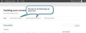 WordPress Seiten Reihenfolge - Fotologbuch.de - Frank Weber