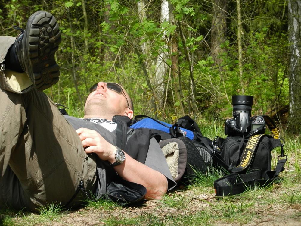 Der Fotograf ruht sich aus, (Foto copyright - Frank Weber - Berlin - fotologbuch.de)