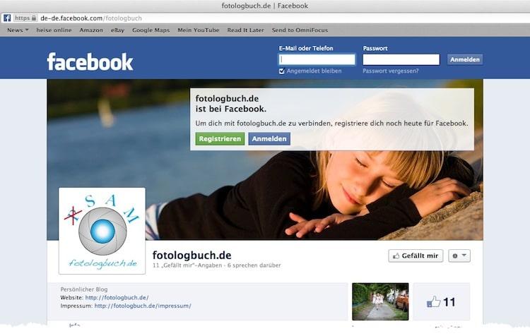 Das Fotologbuch hat jetzt eine Fanpage auf Facebook, (Foto copyright - Frank Weber - Berlin - fotologbuch.de)