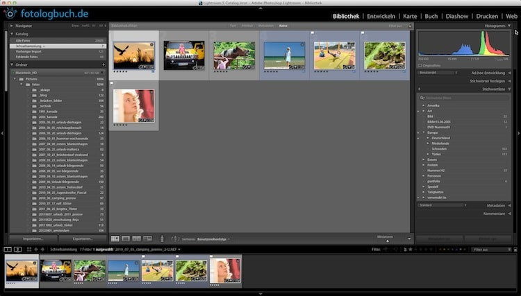 Lightroom Video Tutorial - Fotos Katalogisieren und Stichwörter zuweisen, (Foto copyright - Frank Weber - Berlin - fotologbuch.de)