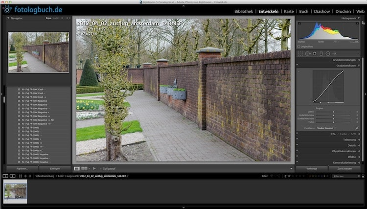 Lightroom Video Tutorial - Kontraste und Gradationskurve, (Foto copyright - Frank Weber - Berlin - fotologbuch.de)