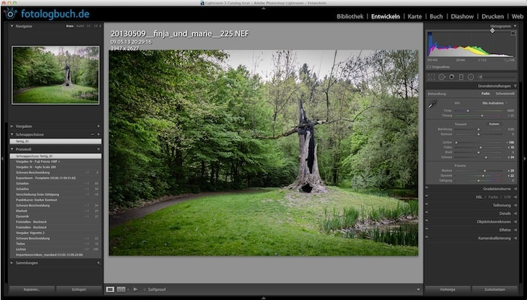 Lightroom Video Tutorial - Schnappschüsse, (Foto copyright - Frank Weber - Berlin - fotologbuch.de)