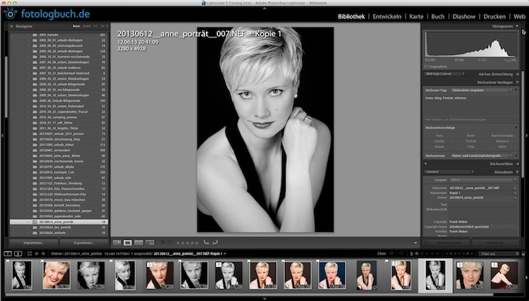 Lightroom Video Tutorial - Zoom Ansicht einstellen, (Foto copyright - Frank Weber - Berlin - fotologbuch.de)