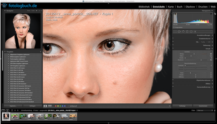 Lightroom Video Tutorial - Details, Schärfen, (Foto copyright - Frank Weber - Berlin - fotologbuch.de)