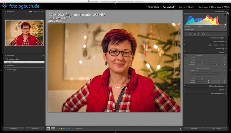 Lightroom Video Tutorial Folge 14 - Entrauschen, (Foto copyright - Frank Weber - Berlin - www.fotologbuch.de)
