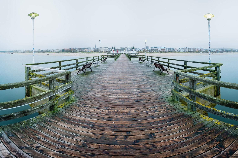 Ein neues Panorama Foto – Seebrücke Ahlbeck am Morgen