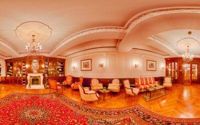 HDR Panorama - Kaminzimmer Romantik Hotel Ahlbeck, (Foto copyright - Frank Weber - Berlin - fotologbuch.de)