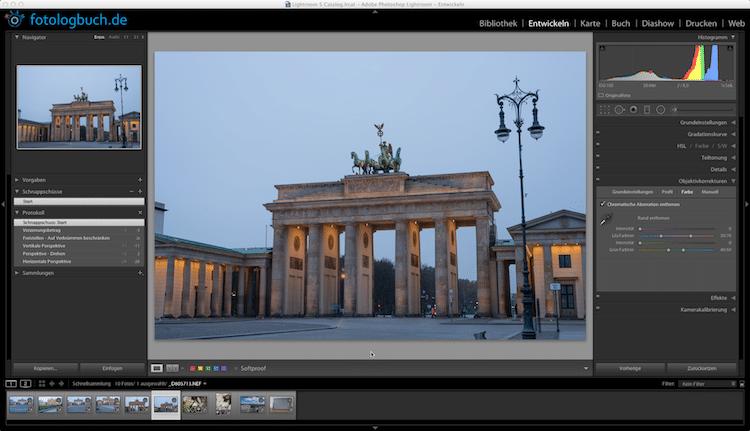 Video Lightroom Tutorial Teil 15 - Entwicklung Objektivkorrekturen, (Foto copyright - Frank Weber - Berlin - fotologbuch.de)