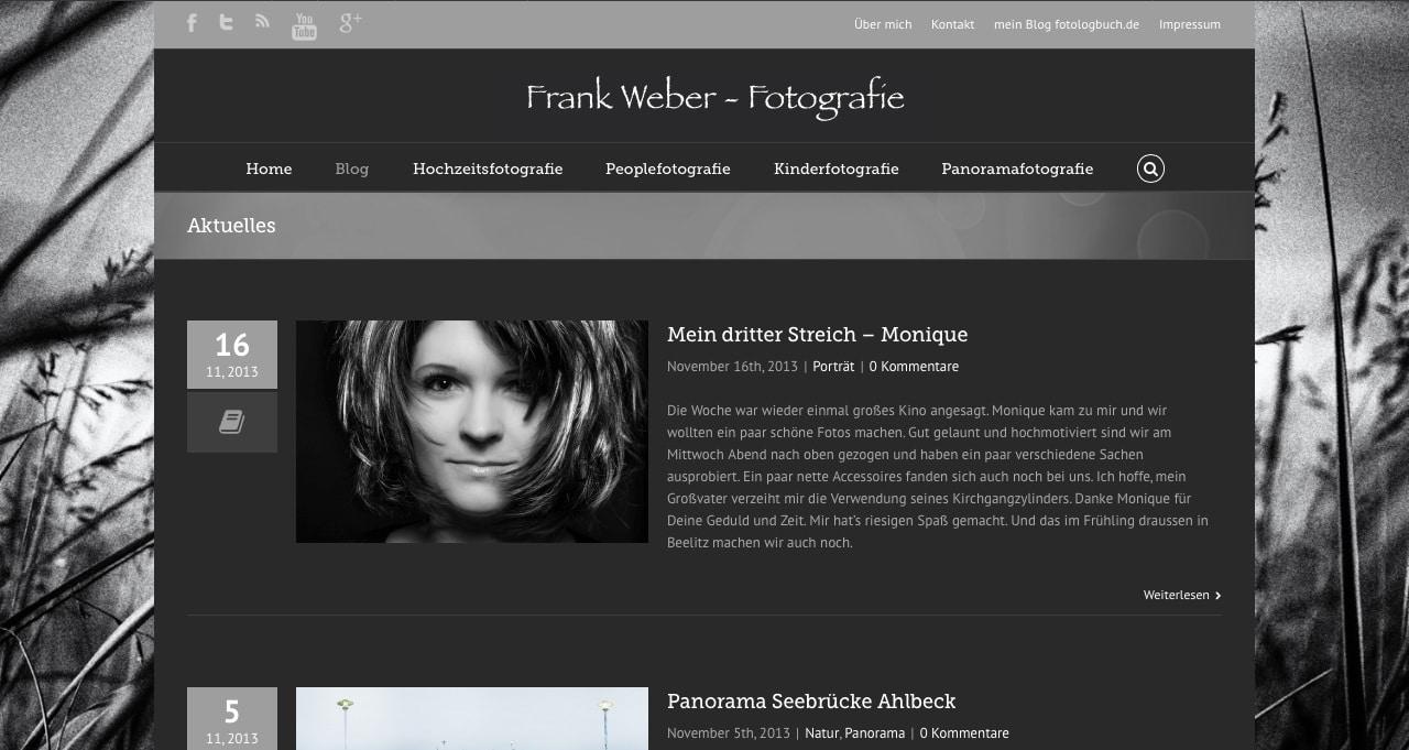Neue Webseite FrankwwWeber.de, (Foto copyright - Frank Weber - Berlin - fotologbuch.de)