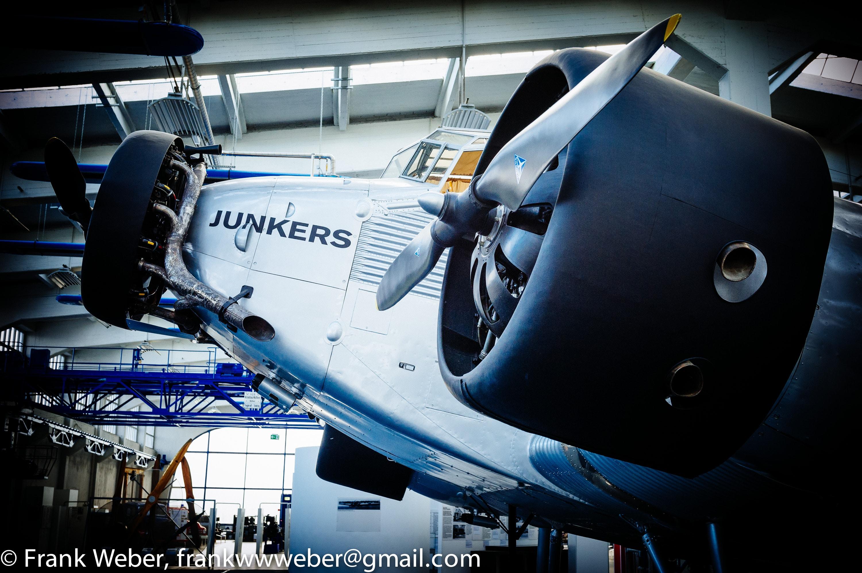 Panorama einer Junkers-52 (Tante Ju) – Innenraum