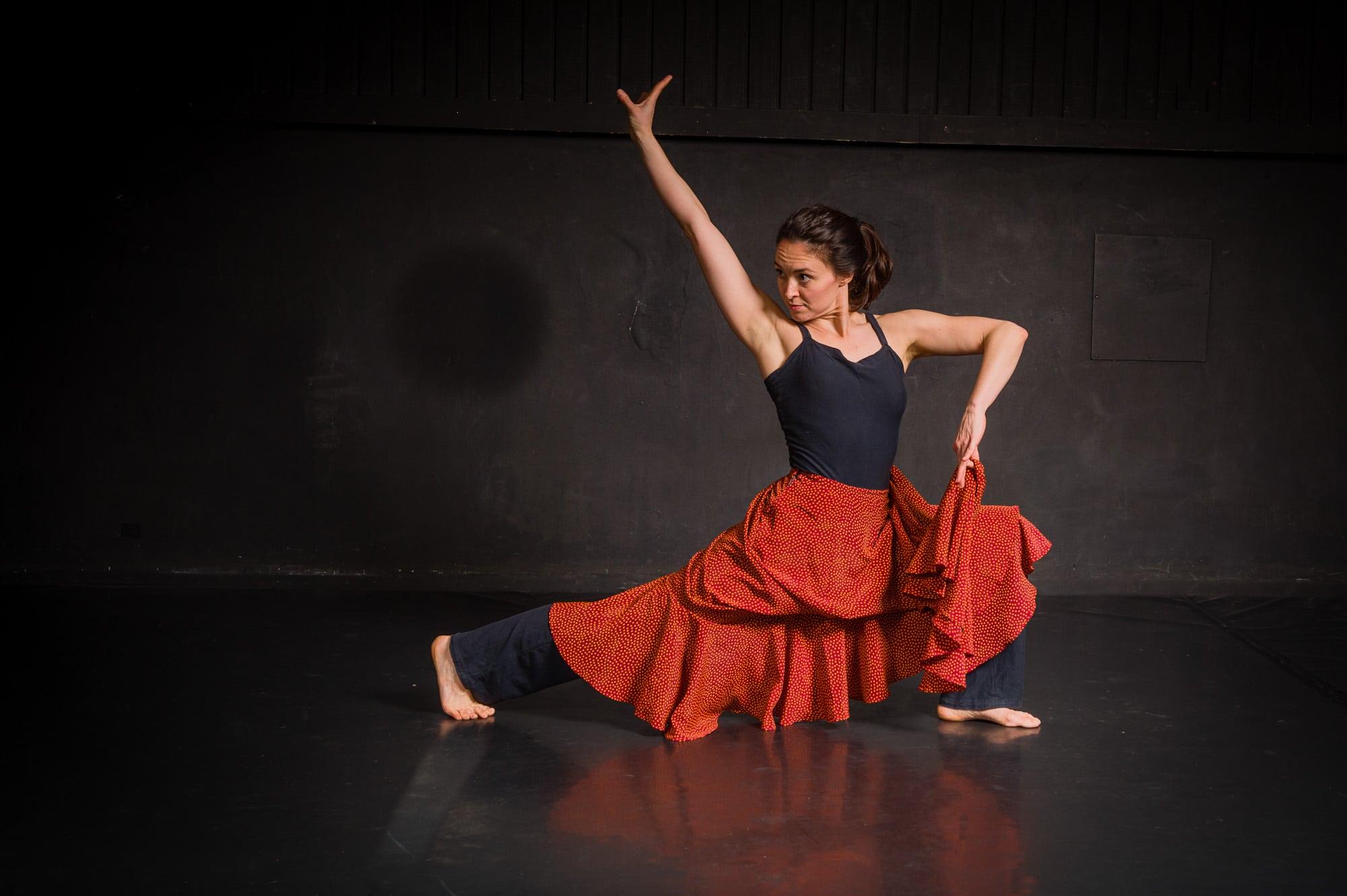 Elen Moos im Tanzstudio, (Foto copyright - Frank Weber - Berlin - fotologbuch.de)