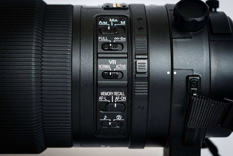 Nikon AF-S 300mm 2.8G VR2 - Schalterleiste, (Foto copyright - Frank Weber - Berlin - fotologbuch.de)
