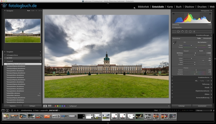 Lightroom Video Tutorial – Verlaufsfilter und Radialfilter
