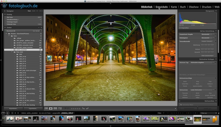 Video Tutorial Lightroom Synchronisiation Quicktipp, (Foto copyright - Frank Weber - Berlin - fotologbuch.de)