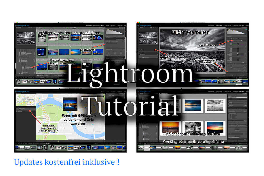 Meine Videotutorials zu Adobe Lightroom jetzt als Paket zu kaufen