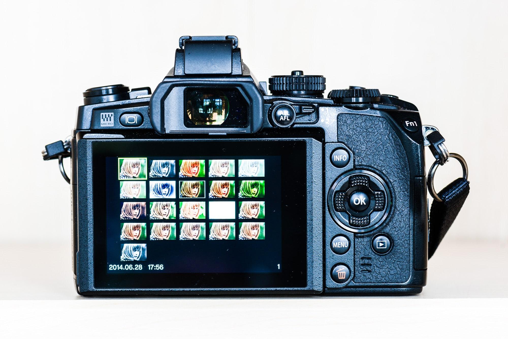 Fotos bearbeiten in der Olympus OM-D EM1