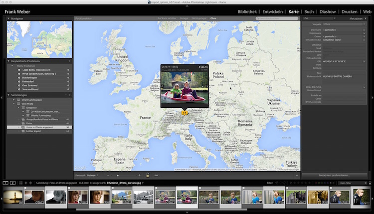 Lightroom Video Tutorial - Import iPhoto in Lightroom 5.7, (Foto copyright - Frank Weber - Berlin - fotologbuch.de)