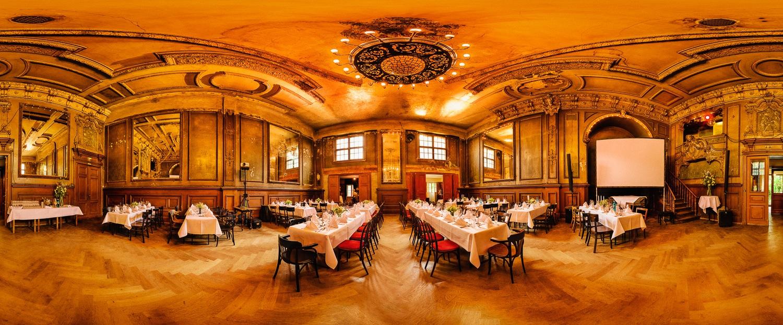 Panorama - Spiegelsaal Clärchens Ballhaus. (Foto copyright - Frank Weber - Berlin - fotologbuch.de)