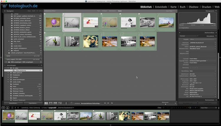 Lightroom Video Tutorial - Fotos sortieren, (Foto copyright - Frank Weber - Berlin - fotologbuch.de)