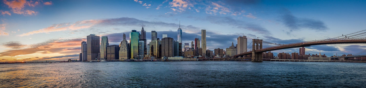 Panorama Skyline Lower Manhattan - New York, (Foto copyright - Frank Weber - Berlin - fotologbuch.de)