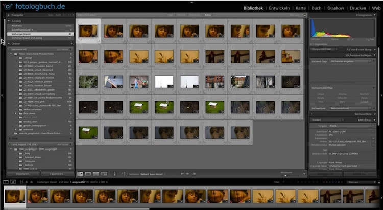 Lightroom Video Tutorial - Import nur neue Fotos, (Foto copyright - Frank Weber - Berlin - fotologbuch.de)