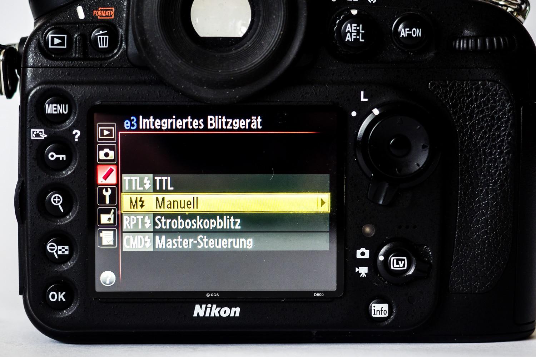 Nikon D800 Einstellung interner Blitz, (Foto copyright - Frank Weber - Berlin - fotologbuch.de)