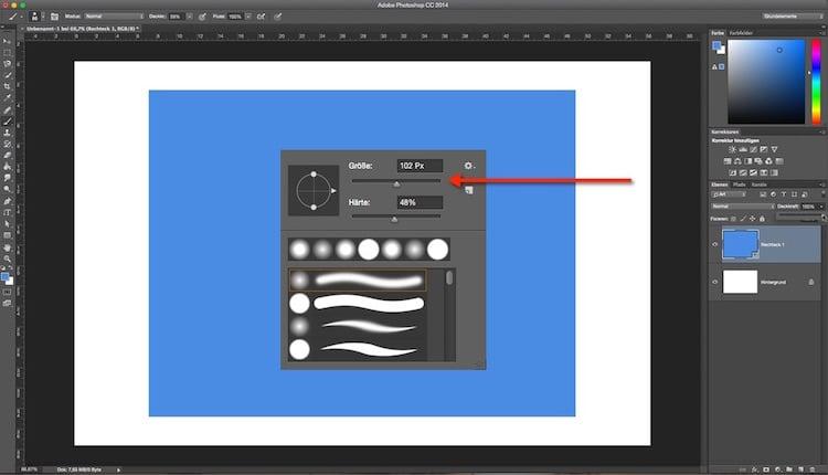 Photoshop – Quicktipp Schieberegler einstellen