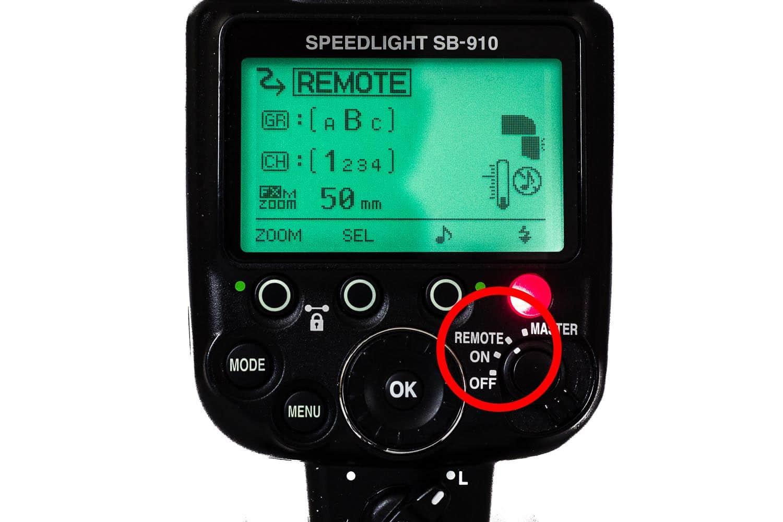 Nikon SB 910 Einstellung Remote Mode als Slave, (Foto copyright - Frank Weber - Berlin - fotologbuch.de)
