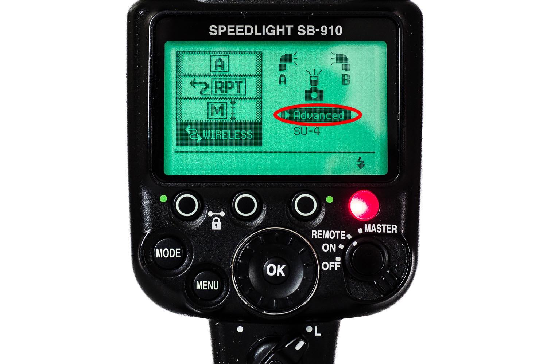 Nikon SB 910 Einstellung Remote Mode mit AWL, (Foto copyright - Frank Weber - Berlin - fotologbuch.de)