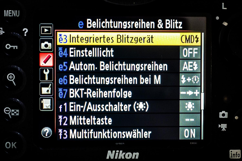 Nikon D800 Einstellung Musterblitz, (Foto copyright - Frank Weber - Berlin - fotologbuch.de)
