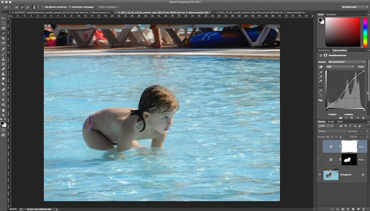 Fotologbuch lernt Photoshop – Die Einstellungsebene Gradationskurven