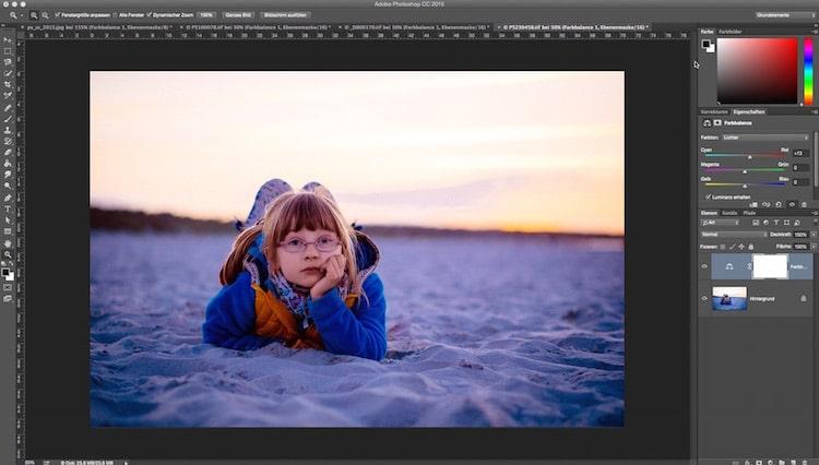 Fotologbuch lernt Photoshop – Die Einstellungsebene Farbbalance