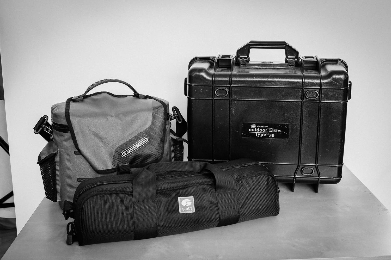Fotoausrüstung verpackt für Schweden Urlaub 2015, (Foto copyright - Frank Weber - Berlin - fotologbuch.de)