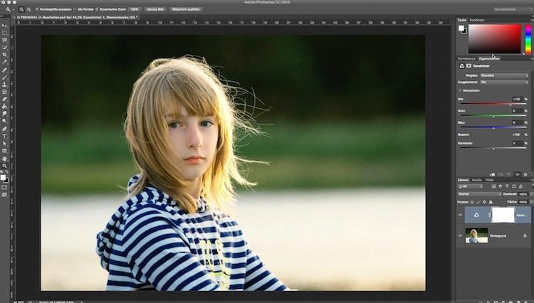Fotologbuch lernt Photoshop – Die Einstellungsebene Kanalmixer und Umfärben