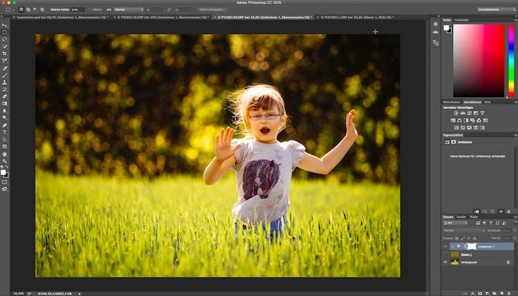 Fotologbuch lernt Photoshop – Die Einstellungsebene Umkehren