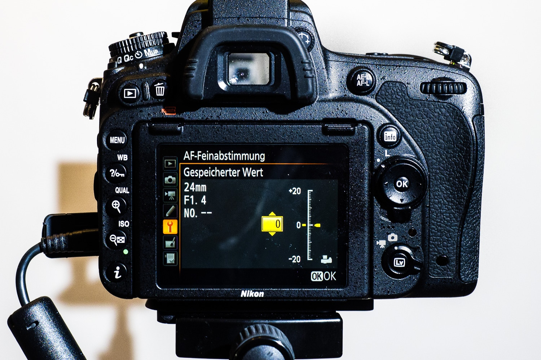 Menü Autofocus Feinjustierung Nikon, (Foto copyright - Frank Weber - Berlin - fotologbuch.de)