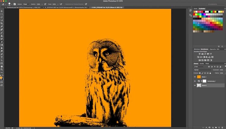 Fotologbuch lernt Photoshop – Die Einstellungsebene Tontrennung