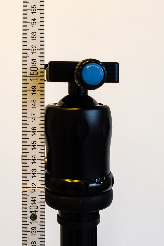 Stativ-Set SIRUI SIRUI T-2004X mit SIRUI K-20X Stativkopf -  maximale Arbeitshöhe, (Foto copyright - Frank Weber - Berlin - fotologbuch.de)
