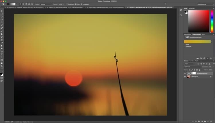 Fotologbuch lernt Photoshop – Die Einstellungsebene Verlaufsumsetzung