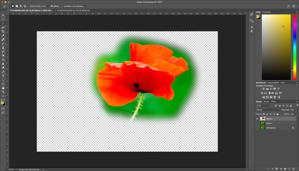 Photoshop Quicktipp – Auswahlwerkzeuge – Der Parameter weiche Kante