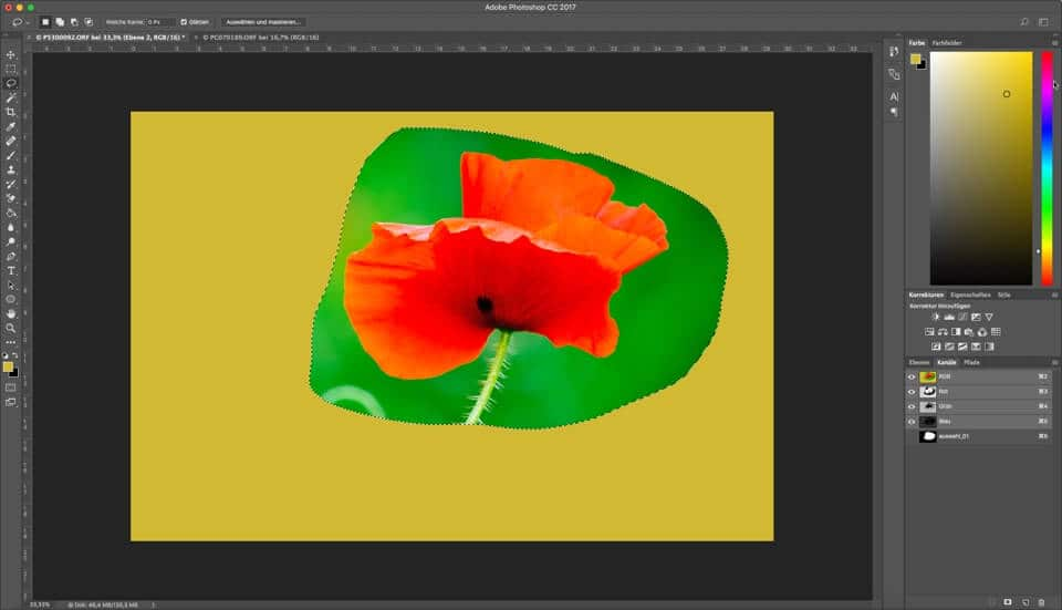 Photoshop Quicktipp – Auswahl speichern und später wieder hervorholen