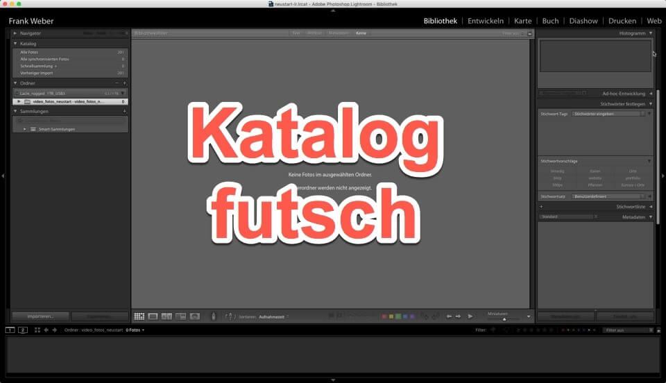 Lightroom Quicktipp - Bilder neu einbinden in leeren Katalog - Backup einstellen, (Foto copyright - Frank Weber - Berlin - fotologbuch.de)