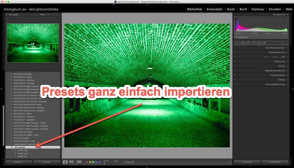 Lightroom - Quicktipp Presets - Einfach und schnell importieren, (Foto copyright - Frank Weber - Berlin - fotologbuch.de)