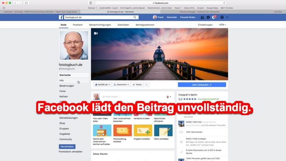 Fotologbuch - Quicktipp - Facebook Problem mit dem Facebook Debugger beheben, (Foto copyright - Frank Weber - Berlin - fotologbuch.de)