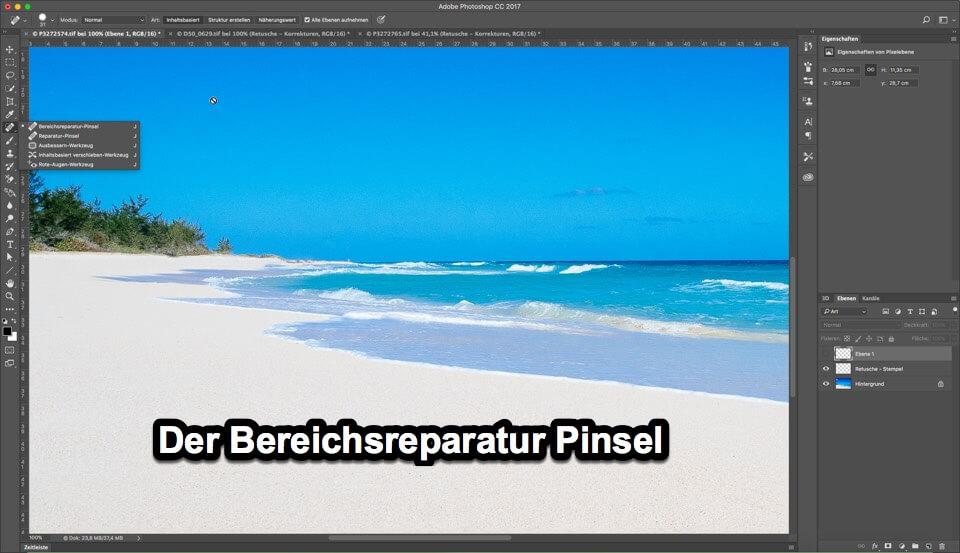 """Fotologbuch lernt Photoshop – Korrekturwerkzeuge """"Der Bereichsreparatur Pinsel"""""""