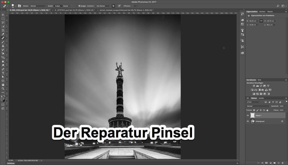Fotologbuch lernt Photoshop - Korrekturwerkzeuge