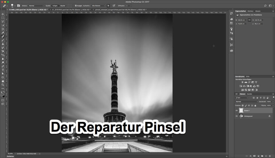 "Fotologbuch lernt Photoshop - Korrekturwerkzeuge ""Der Reparatur Pinsel"", (Foto copyright - Frank Weber - Berlin - fotologbuch.de)"