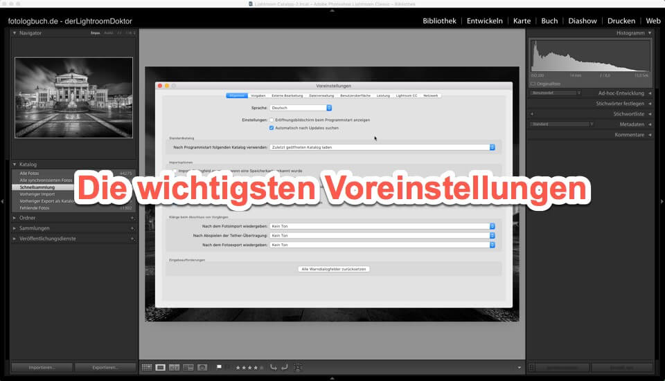 Lightroom - Tutorial - Die wichtigsten Voreinstellungen von Lightroom, (Foto copyright - Frank Weber - Berlin - fotologbuch.de)