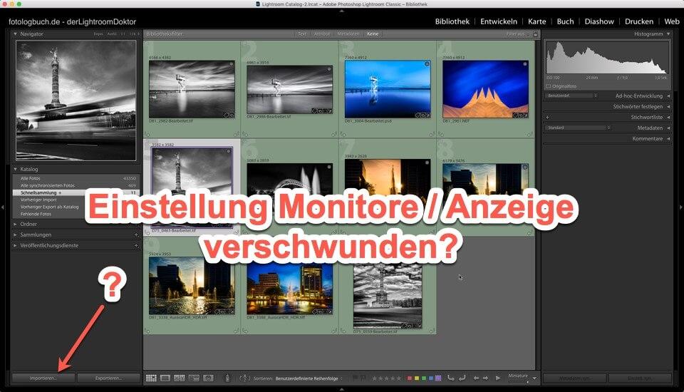 Lightroom Quicktipp - Einstellung Monitore / Anzeige verschwunden?, (Foto copyright - Frank Weber - Berlin - fotologbuch.de)